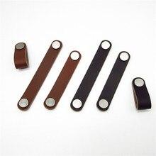 1 pcs Cabinet Handle Soft PU Leather Furniture Hardware Dres