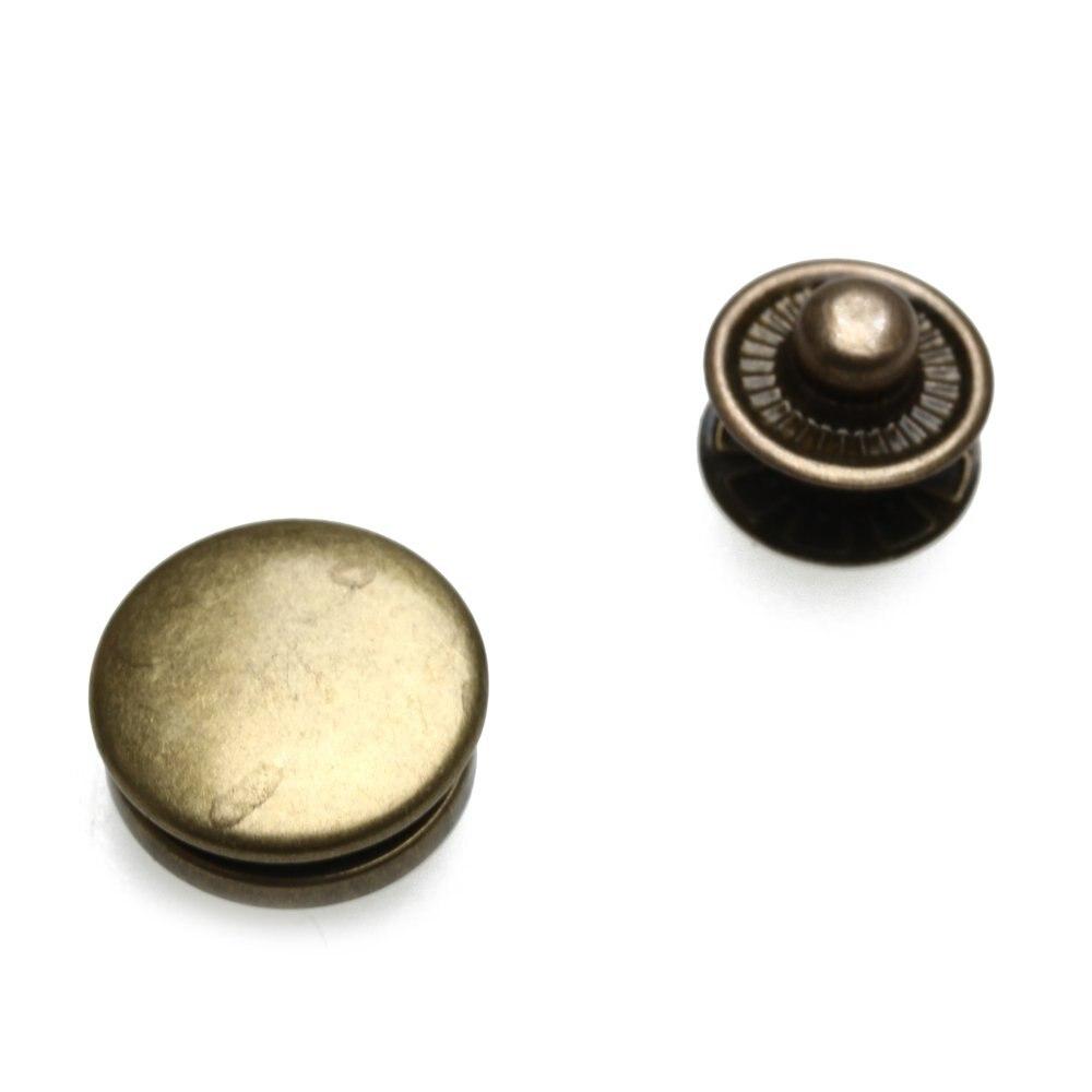 ⑧50 bronce 15mm cierre botones para pulsera Zapatos ropa - a753