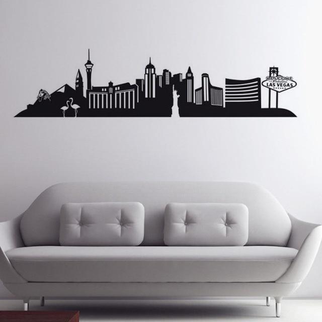 large size las vegas wall decal city mural livimg room self adhesive