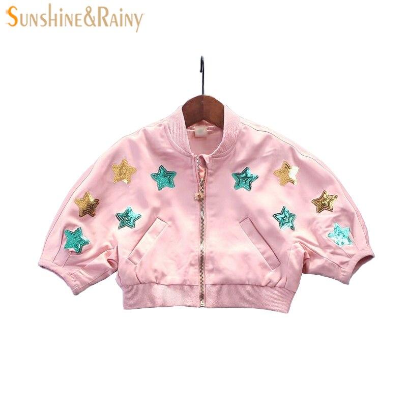 От 1 до 4 лет Куртки для маленьких девочек Пальто для будущих мам Star Блёстки вышитые ветровка для малышей Обувь для девочек Обувь для мальчик...
