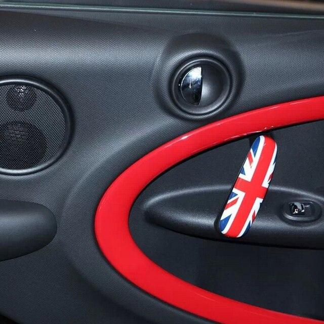 Union Jack Car Interior Door Handle Cover Sticker For Mini Cooper