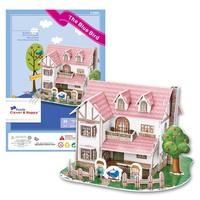 Candice Guo 3D Puzzle DIY Toy Paper Building Assemble Hand Work Game Story The Blue Bird