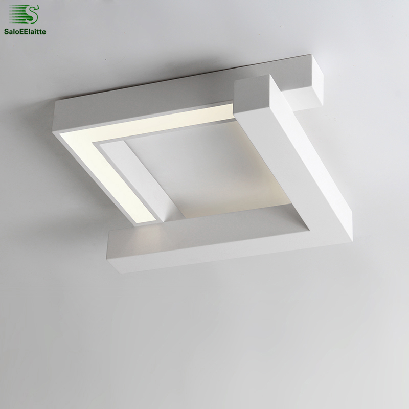 Modern Geometry Metal Dimmable Led Ceiling Light Lamparas Acrylic Bedroom Led Ceiling Lamp Fixtures Led Ceiling Lights Luminaria modern simple diy metal stone led ceiling lamp luminaria acrylic bedroom led ceiling lights lamparas led ceiling light fixtures