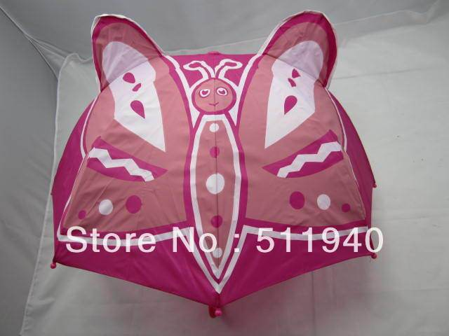 Free Shipping !! 4pcs* Lovely kids butterfly umbrella, cartoon umbrella,red color
