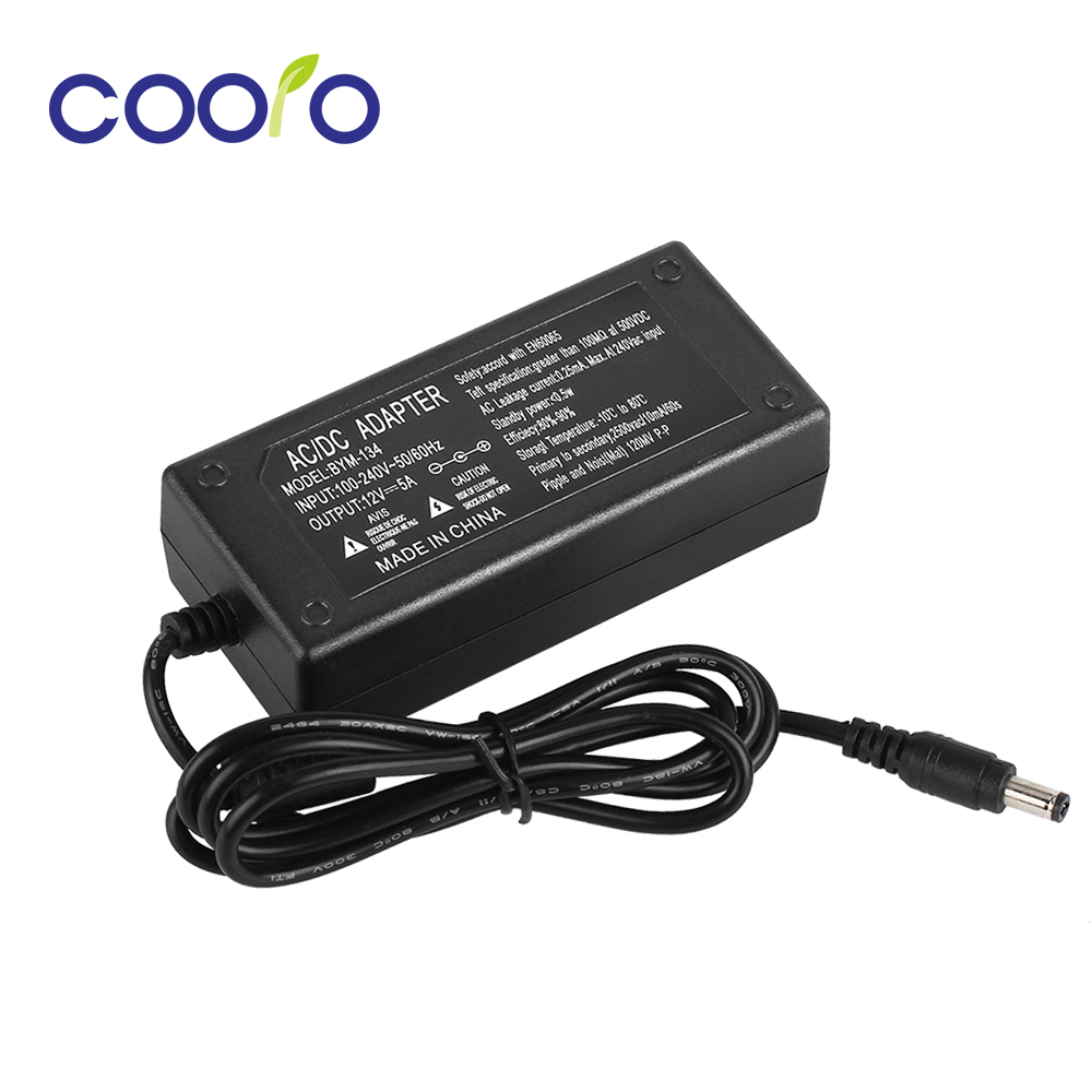 цена на 12V 5A AC-DC power adapter for led strip 5050,3528,5630,3014 power supply,US/UK/EU/AU standard plug,free shipping