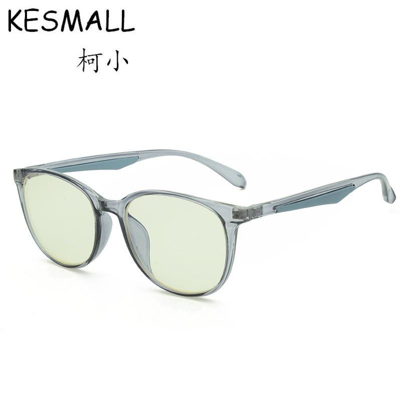 KESMALL 2018 New Anti Blue Ray Glasses Frame Women Men Myopia Eyeglasses Frames Computer Gaming Glasses Vintage Eyewear YJ1079
