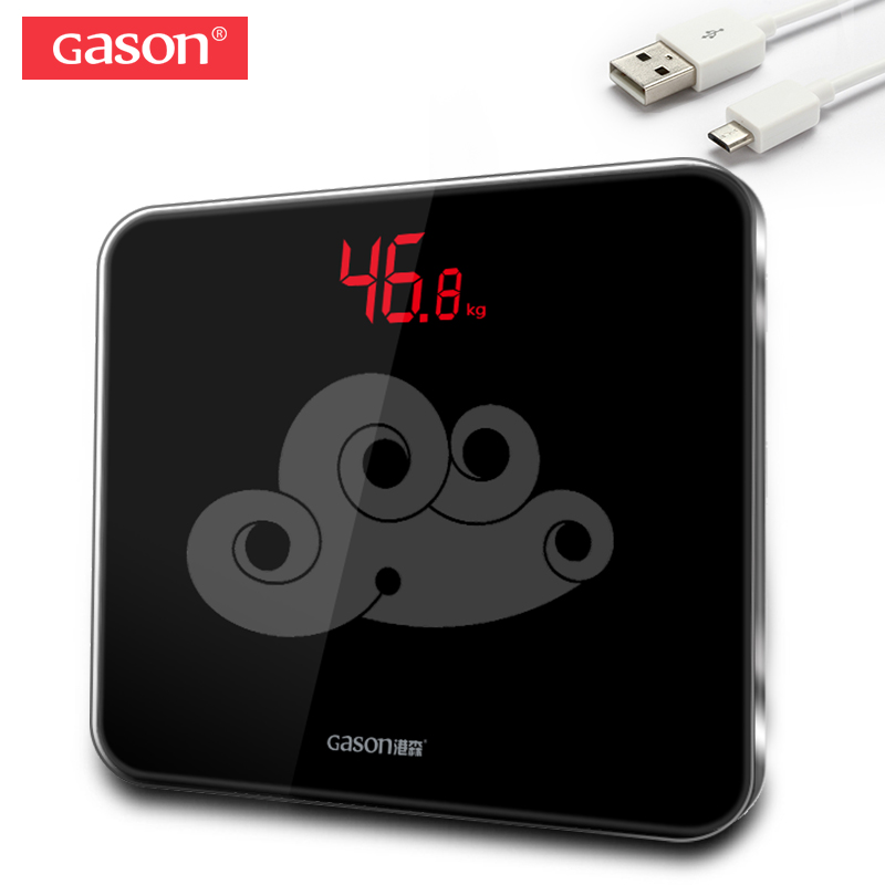 GASON A3s Body Bathrooms Scale USB Charging LED Digital Display Weight Weighing Floor Electronic Smart Balance Household 180KG