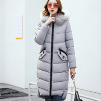 Wmwmnu brand 2017 Women Coat Jacket Warm Woman Parka Jacket with a Fur collar Winter Thick Coat Women New Winter Collection s070