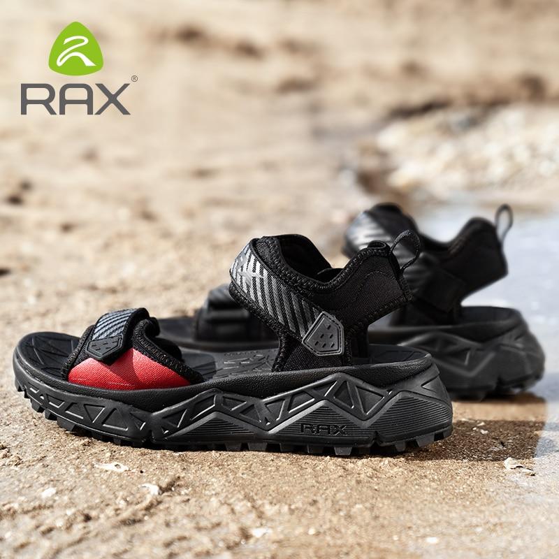 RAX Mens Sports Sandals Summer Outdoor Beach Sandals Men Aqua Trekking Water Shoes Men Upstream Shoes Women Fishing Quick  Shoes