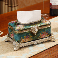 XING KILO  European luxury tissue box ornaments gifts Book living room creative decorations