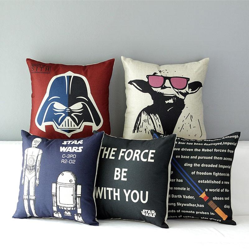 Star Wars Poster 40 Models Master Yoda Cotton Linen Burlap Decorative Stunning Burlap Star Decorative Pillow