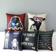 Star Wars Афиша 5 модели Мастер Йода хлопкового белья мешковины декоративные подушки броска подушки чехол для диван диван кресло