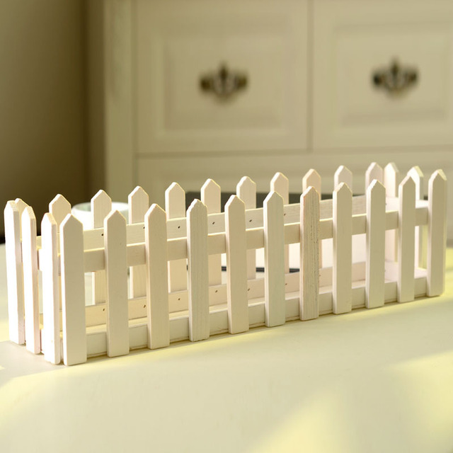 Us 250 Exquisite Hollow Wooden Fence White Flower Wholesale Flower Groove Special Shooting Props Flower Garden Fence Layout Long 40cm In Vases From