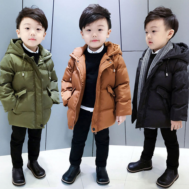 Baby Boy Girl Korean Cotton Hooded Jacket Children's Clothing Thick Warm Autumn Winter Outerwear Fashion Toddler Boys Coats 2-8T allkpoper autumn winter baby girl boy beanie hats toddler casual solid cotton caps