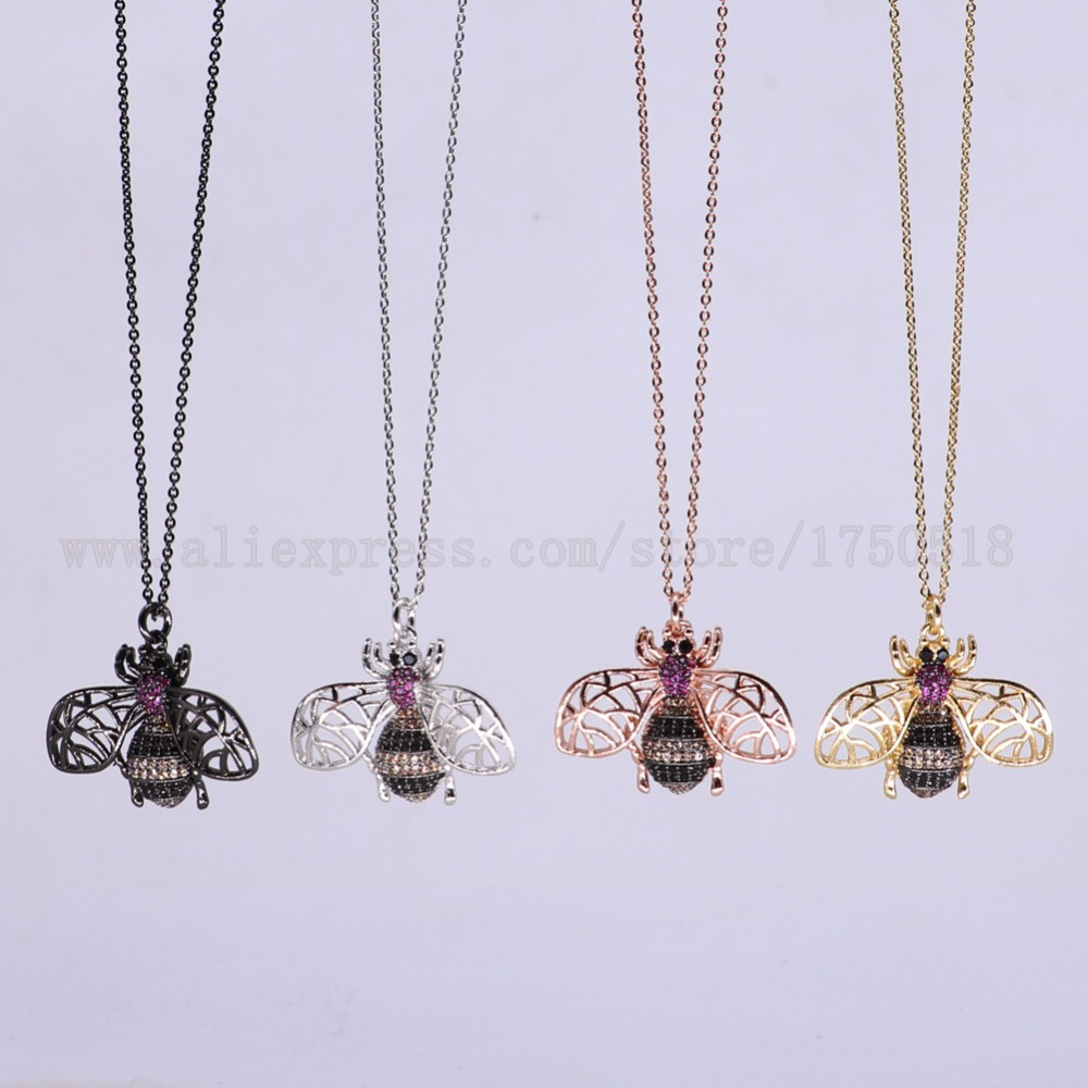 5 strands bugs necklace Insects bee pest pendants necklace small size jewelry 18 mix color necklace pets beads 3061