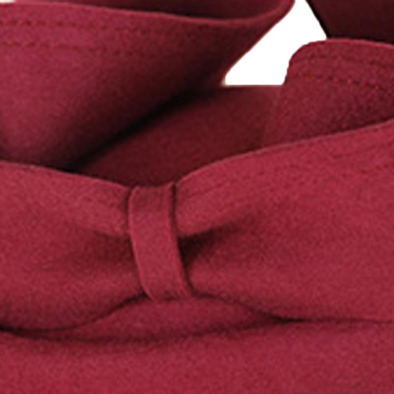 FS Vintage lana pastillero sombrero negro mujer Fascinator sombreros Derby elegante vino rojo boda señoras Iglesia sombrero Fedora - 5