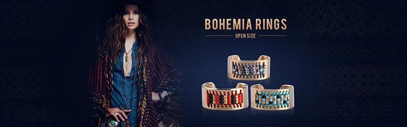 V YA BoHo Gelang untuk Wanita Wanita Engraving Anti Karat Gelang Emas  Berlapis Tenun Gelang untuk Wanita Bohemia 715ee69d7b