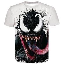 2019 New venom T-shirt Marvel 3D Printed fashion short-sleeved shirt Men and women trend youth cool men casual t-shirt