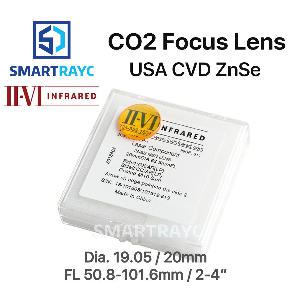 Smartrayc II-VI ZnSe Focus Lens DIa. 19.05mm 20mm FL 50.8-101.6mm 2-4 for CO2 Laser Engraving Cutting Machine Free Shipping cloudray ii vi znse focal meniscus lens laser engraving cutting machine optical lens dia 20mm fl 50 8mm 263 5mm 2 5101 6mm 4