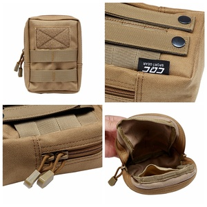 Image 3 - Outdoor EDC Bag Multi function Portable Military Tactical Pocket Durable Molle Tool Zipper Pockets Accessories
