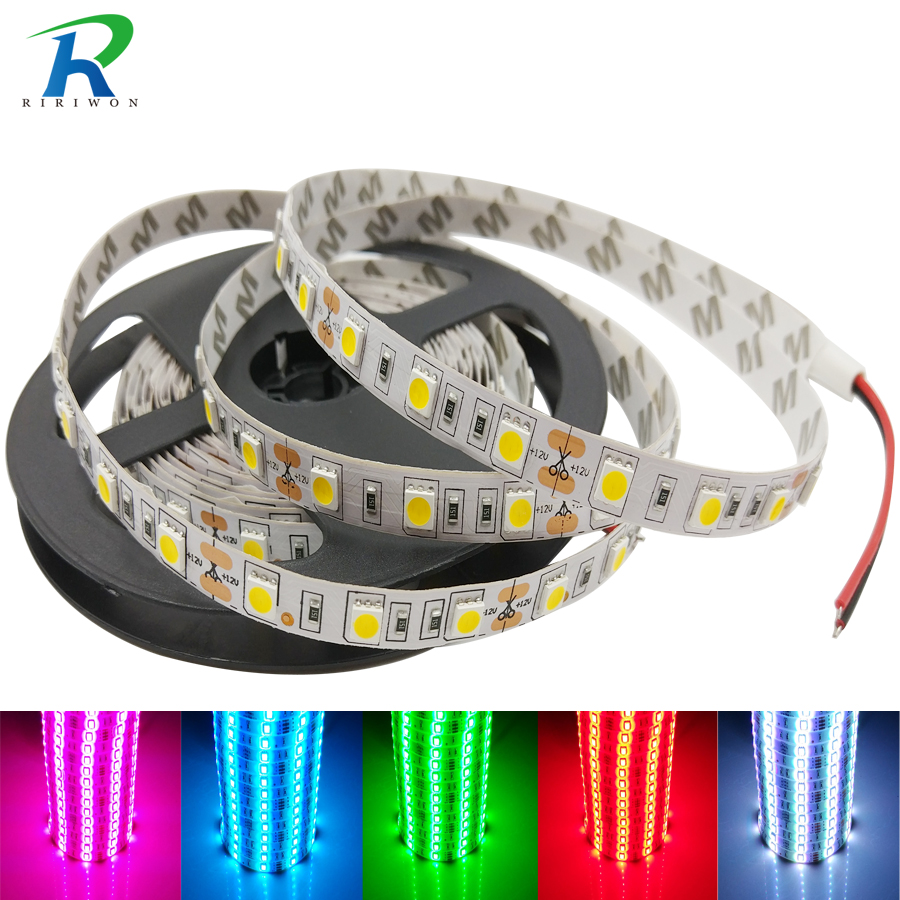 LED Strip Light RGB RGBW SMD 5050 Strip Waterproof RGB LED Flexible Ribbon Diode Tape DC12V 5m/lot RGBW RGBWW LED Light Strips 10pcs 5 pin led strip wire connector for 12mm 5050 rgbw rgby ip20 non waterproof led strip to wire connection terminals