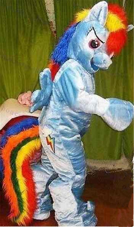 Unicorn White Pony Horse Adult Mascot Costume Halloween Birthday Party Girls Fun