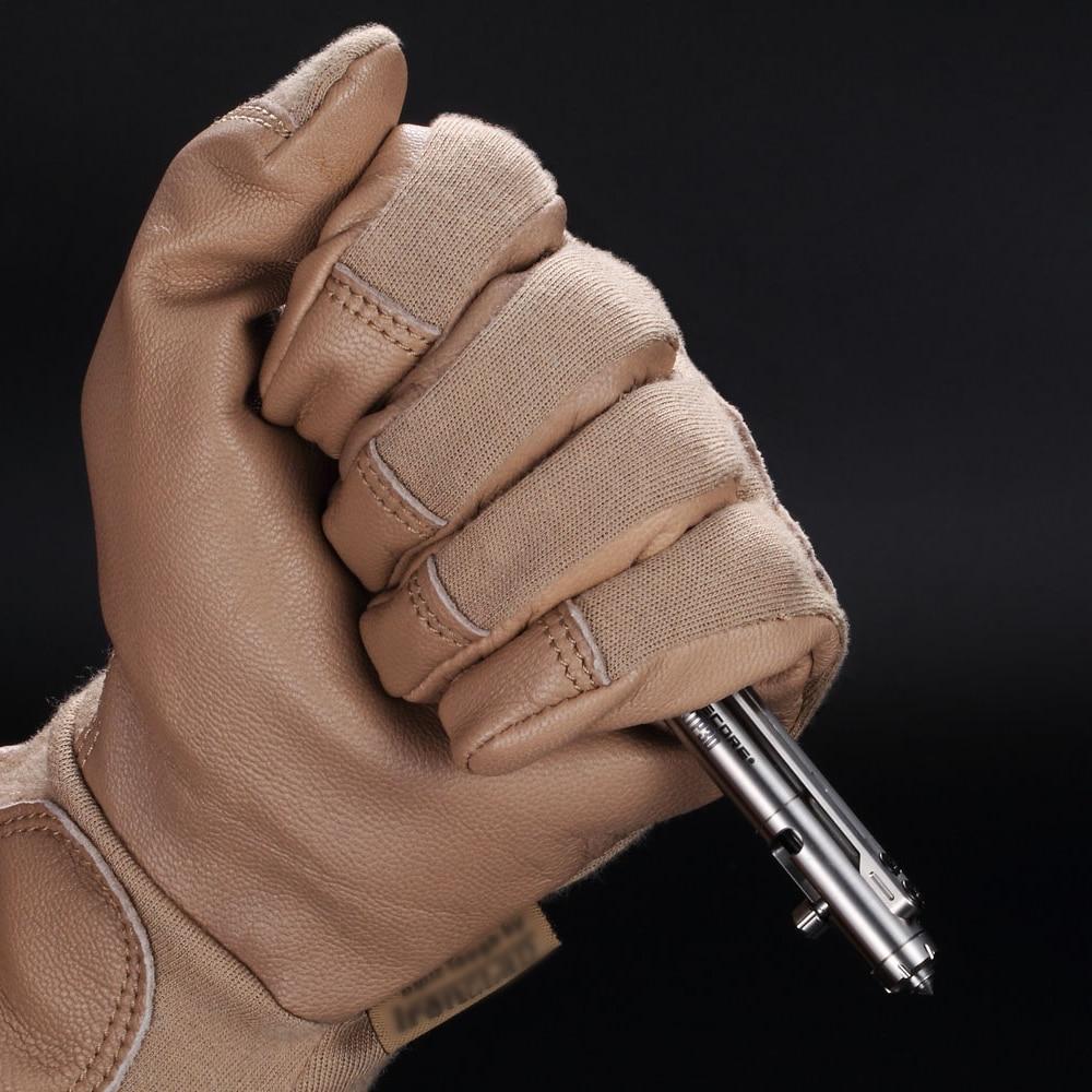 1 pc best price 2019 wholesale Nitecore NTP30 tactical bolt action self-defense pen titanium alloy ergonomic tool conical tip tu