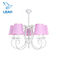 Girl children room chandelier Creative sweet baby princess room bedroom LED