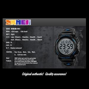 Image 4 - SKMEI relógio de pulso digital de marca, relógio LED de pulso digital multifuncional à prova dágua para passear, esporte, relógios para criança, meninos e meninas