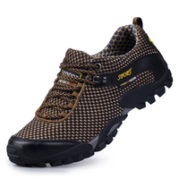 Fashion Men Casual Shoes Breathable Lace Up Walking Shoes Spring Lightweight Comfortable Walking Men Shoes Brown