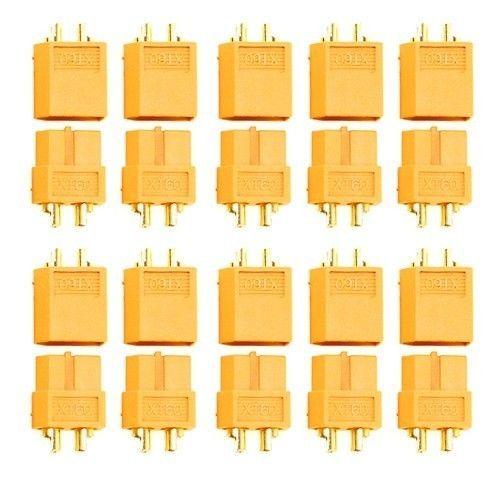 10 par/lote XT60 conector macho hembra para batería Quadcopter multicóptero batería ESC módulo de alimentación FPV