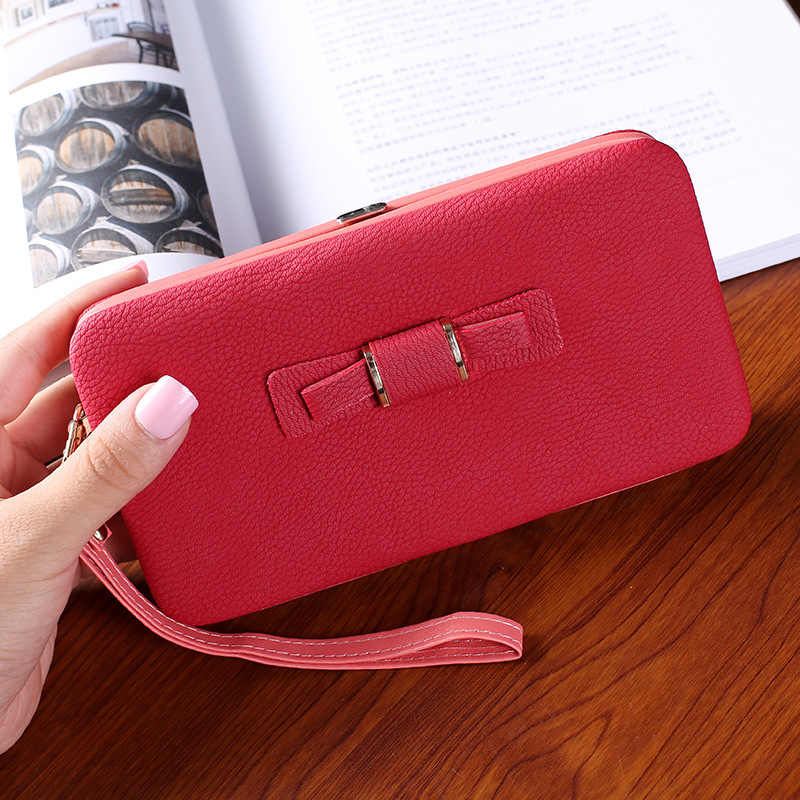 Purses& Wallets Women Red/green/pink/black/blue Long Purse Female Cellphone Bag Large Capacity Slim Women's Wallet