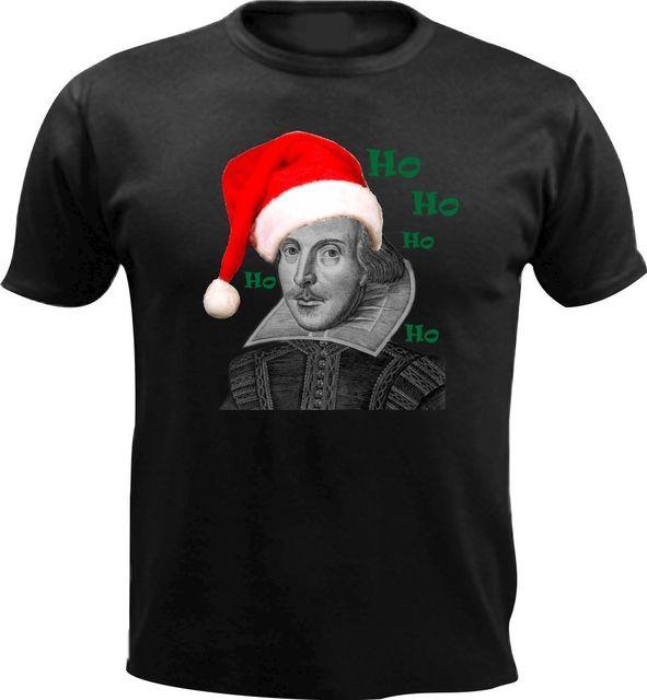 3cb2e6a0c3a Santa William Shakespeare Hamlet Men T shirt Slogan Xmas Gift Christmas  Present Cool Casual pride t shirt men Unisex New Fashion