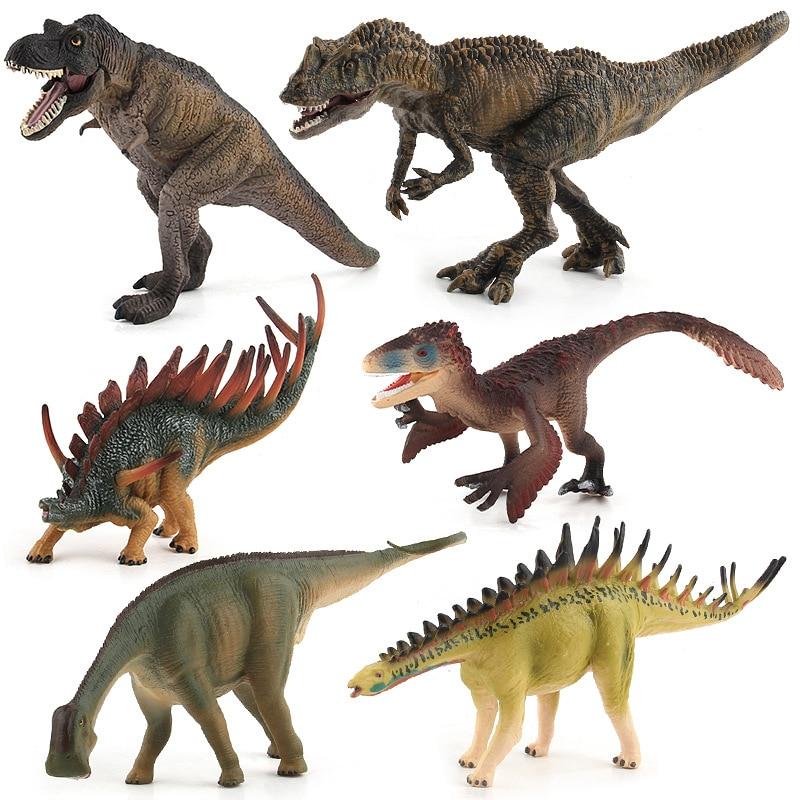 Plastic Jurassic Dinosaur Figure Kids Toy Home Décor 10 Inch Blue