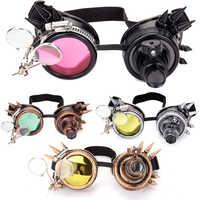 2019 moda masculina nova chegada moda soldagem steampunk óculos de proteção rebite retro gótico cosplay punk óculos 9 cores