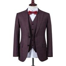 Мужской костюм на заказ, Свадебный костюм из 3 предметов(пиджак+ брюки+ жилет