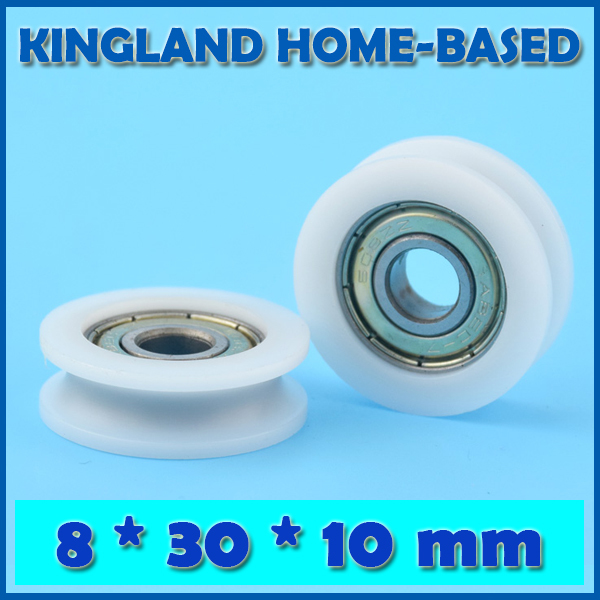 10pcs U Nylon plastic Embedded Groove Ball Bearings 6*39*8mm Guide Pulley