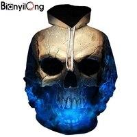 두개골 headr 남성 후드 스웨터 3D 인쇄 재미 힙합 후드 참신 스트리트 후드
