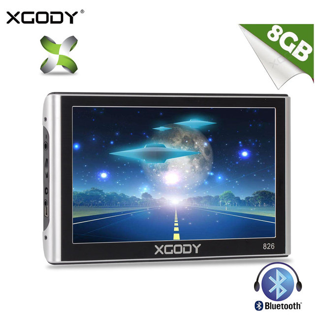 XGODY 7 Inch Car Truck GPS Navigation 826 256MB 8GB FM Bluetooth AVIN Sat Nav Navigator Navitel With Sunshade Free Lifetime Map