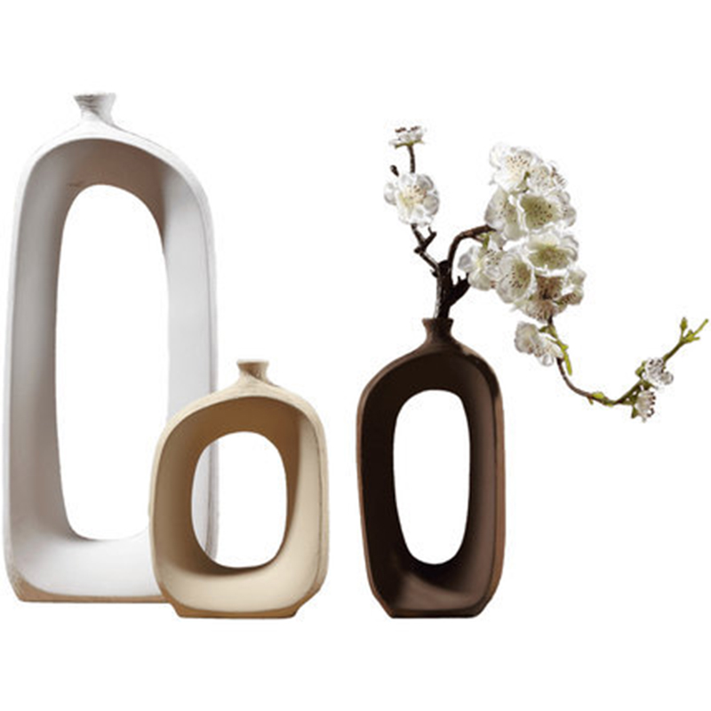 Nordic Style Ceramic Vase Ornaments Home Office Decoration Creative Art Vase Crafts Furnishings Living Room Porch Decor Gifts