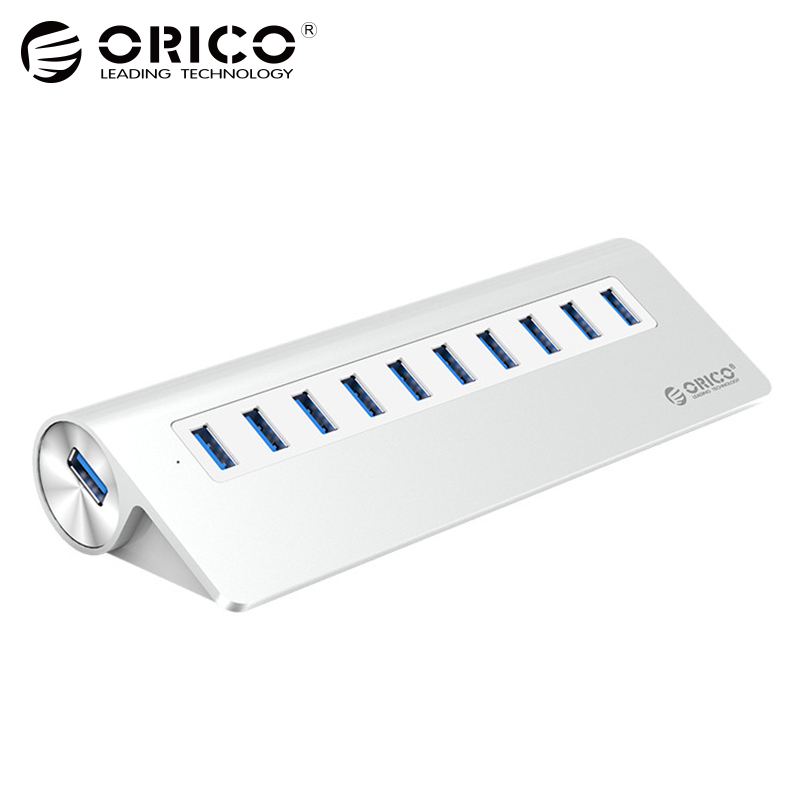 ORICO 10 USB3.0 HUB Ports SuperSpeed Hub Splitter 5Gbps Adapter For Windows Mac Laptop PC Cell-phone with AU EU US UK Plug 12 ports usb hub 2 0 high quality usb2 0 hub splitter 2 switch with eu us power adapter for macbook air laptop pc computer e11