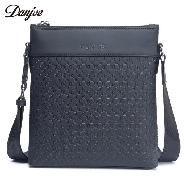 DANJUE Men Messenger Bag split Leather Man Business Bag Trendy Daily Travel Bags  Vertical Printing Men 16c5ffd69faf2