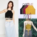Summer Tank Tops Women Sexy Shoulder Strap Top Blusas Black Red Yellow Army Green Vest Camisole Crop Top Tank Womens 2017