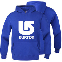 Burton Autumn Winter Hooded Pullover Male Hip Hop Long Hoodies Clothing Men Outerwear Cool Man Tracksuit Sweatshirt RAW0483