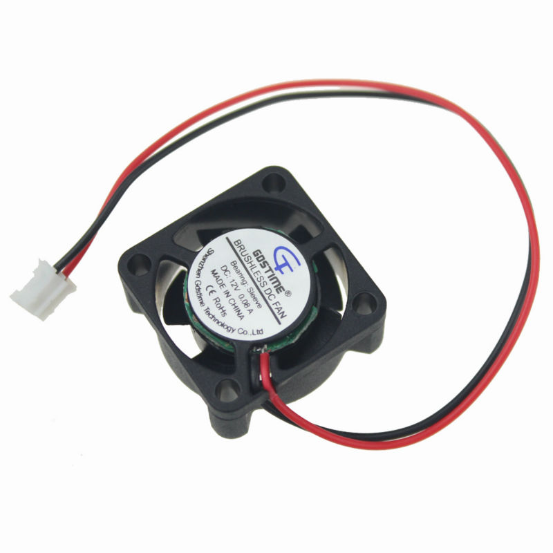 Gdstime 2pcs 25x25x10mm Mini Small DC radiator Cooling <font><b>Fan</b></font> 12V 0.08A 25mm x <font><b>25</b></font> <font><b>mm</b></font> x 10mm 2pin 2.0 image
