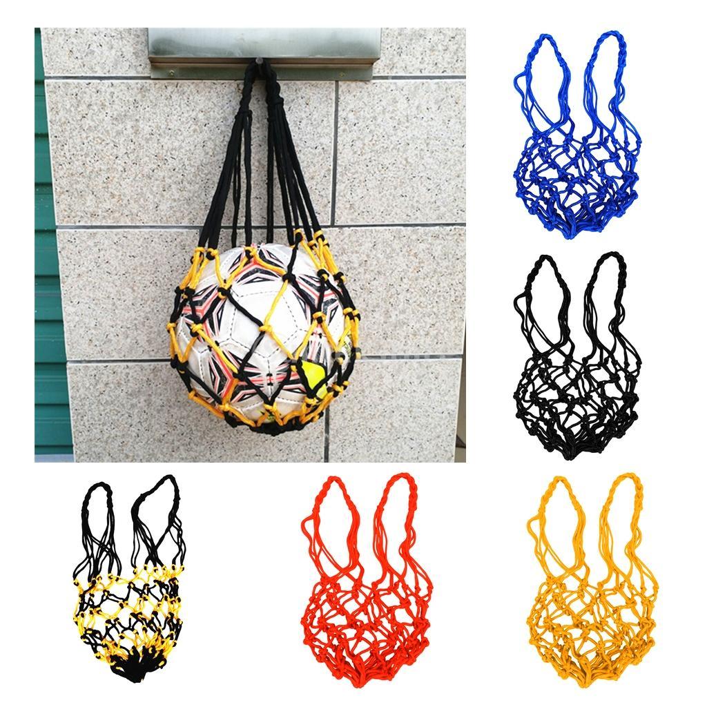 24109f650 Team Sports Basketball MagiDeal Durable Nylon Mesh Net Bag Single Ball  Carrier for Carrying Volleyball Basketball Football Soccer