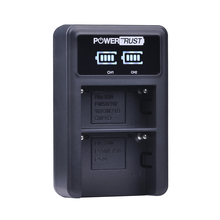 PowerTrust LED Duplo Carregador USB Para Sony NP-FM500h NP-FM50 NP-FM70 NP-FM90 NP-F550 NP-F570 NP-F750 NP-F770 NP-F960 NP-F970
