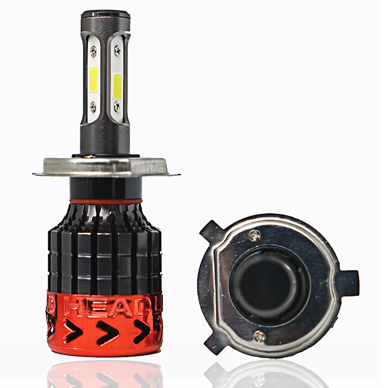 360lahl 2Pcs H4 LED H7 H11 H8 9006 HB4 COB S2 Auto Car Headlight 72W 8000LM High Low Beam Bulb All In One Automobile Lamp 6500K