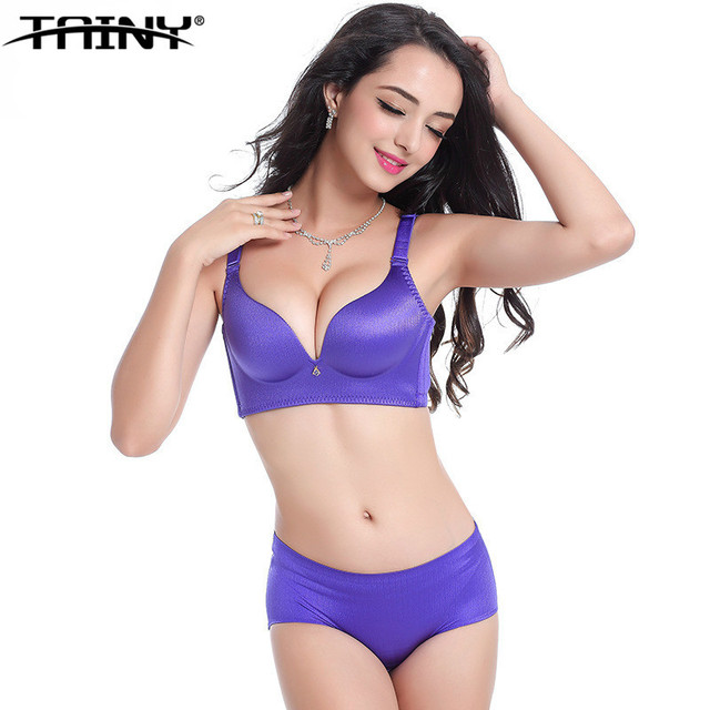 08080e9ecb4 TAINY New Women Seamless Underwear Sexy Smooth Surface Push Up Wire Free  One-piece Bra