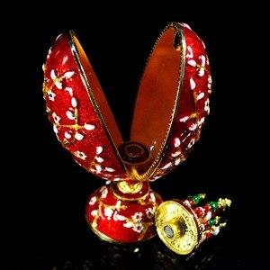 Image 4 - QIFU Üstün Kalite Faberge Stil Yumurta Mücevher Kutusu için